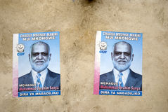 Election poster, Stone Town, Zanzibar, Tanzania Royalty Free Stock Images