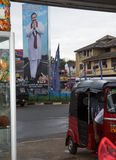 Election poster and tuktuk Royalty Free Stock Image