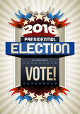 2016 Election Poster. Year 2016 Presidential Election Poster Design. Elements are layered separately in vector file Stock Photography
