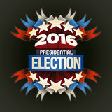 2016 Election Poster. Year 2016 Presidential Election Design. Elements are layered separately in vector file Royalty Free Stock Photos