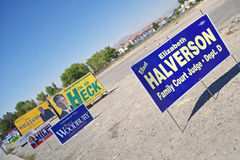 Election posters encouraging voters to vote in Clark County near Las Vegas, NV Stock Photos