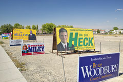 Election posters encouraging voters to vote in Clark County near Las Vegas, NV Royalty Free Stock Images