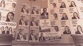 Election posters Royalty Free Stock Images