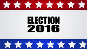 Election 2016. Red, white and blue motion graphic. 4K stock footage
