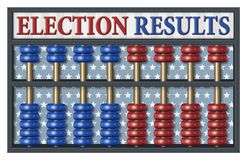 Election Results Abacus Stock Photo