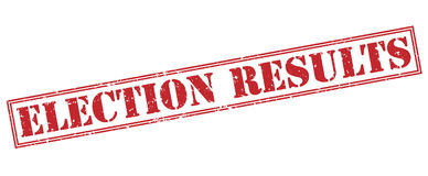 Election results red stamp Royalty Free Stock Photography