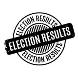 Election Results rubber stamp Royalty Free Stock Image