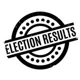 Election Results rubber stamp Stock Image