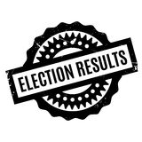 Election Results rubber stamp Royalty Free Stock Images