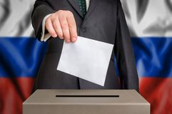 Election in Russia - voting at the ballot box Royalty Free Stock Images