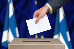 Election in Scotland - voting at the ballot box Royalty Free Stock Photo