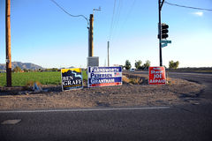 Election Signs. Royalty Free Stock Photo