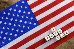 Election simbol on usa flag Royalty Free Stock Photography