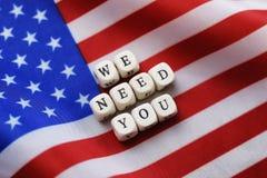 Election simbol on usa flag Royalty Free Stock Images