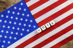 Election simbol on usa flag Royalty Free Stock Photo