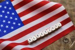 Election simbol on usa flag Stock Photography