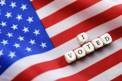 Election simbol on usa flag Royalty Free Stock Photo