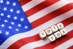Election simbol on usa flag Stock Images