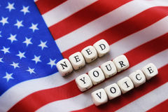 Election simbol on usa flag Royalty Free Stock Photos