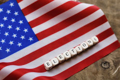 Election simbol on usa flag Stock Image