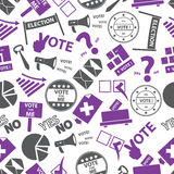 Election simple icons seamless color pattern Royalty Free Stock Images