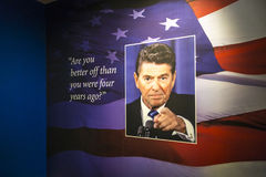 Election Slogan. From Ronald`s Reagan`s presidential campaign Stock Photography