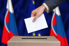 Election in Slovakia - voting at the ballot box Royalty Free Stock Photos