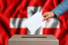 Election in Switzerland - voting at the ballot box Royalty Free Stock Image