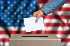 Election in United States of America - voting at the ballot box Stock Image