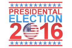 Election 2016 USA concept Royalty Free Stock Photo