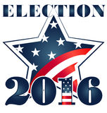 Election 2016 with USA Flag illustration Stock Images