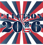 Election 2016 with USA Flag illustration Royalty Free Stock Image
