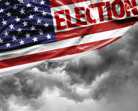 Election USA waving flag, America Stock Image