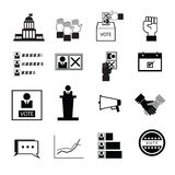 Election vote democracy icons Stock Photo