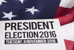Election 2016. Voter Registration Application for presidential election 2016 Stock Photos