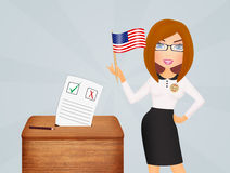 Election voting box. Illustration of Election voting box Stock Photography