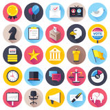 Election and Voting Flat Icon Set Royalty Free Stock Photos