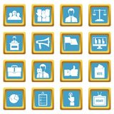 Election voting icons azure Royalty Free Stock Photos