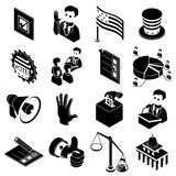 Election voting icons set, simple style Royalty Free Stock Photos