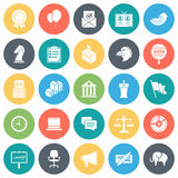 Election Voting Minimal Icon Set Royalty Free Stock Photo