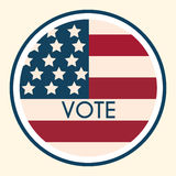 Election Voting Sticker and Badge. American Flag's Symbolic Elem Stock Images