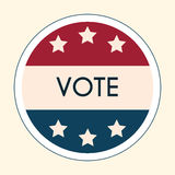 Election Voting Sticker and Badge. American Flag's Symbolic Elem Stock Photos