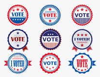 Election Voting Stickers and Badges stock illustration