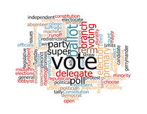 Election Words Stock Photo