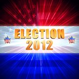 Election year 2012 shining american flag, stars Stock Photography