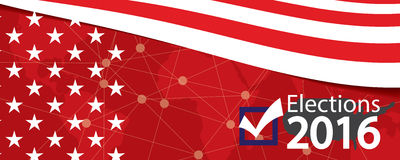 Elections 2016 Banner. Royalty Free Stock Photography
