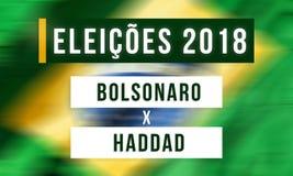 Elections in Brazil between Jair Bolsonaro and Fernando Haddad royalty free illustration