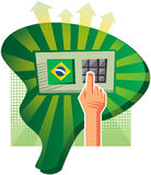 Elections in Brazil. Are made with an electronic voting machine Stock Photos