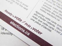 Elections Canada Royalty Free Stock Photos
