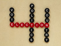 Elections conception texts Royalty Free Stock Photo
